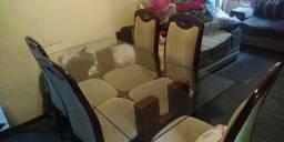 Título do anúncio: Mesa de vidro 6 cadeiras