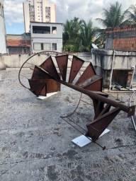 Escada caracol de ferro