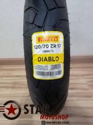 Pneu Pirelli Diablo - 120/70-17 - NOVO - CBR600rr/Hornet/Cb1000 - Dianteiro