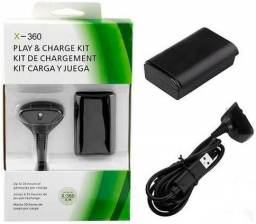 Bateria e Carregador para controle XBOX 360<br>