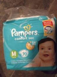 Título do anúncio: Pacotes de Fralda Pampers Confort Sec - tamanho M