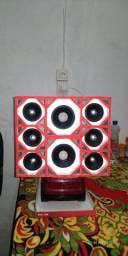 Miniatura de paredão de som (enfeite)