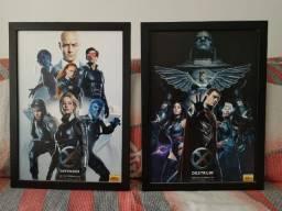 Quadro X-Men e Liga da Justiça