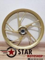 Rodas da Titan Pé de Galinha (Scud) 150/ FAN 150 - S/Câmara - ESD - COR: Dourada e Preta