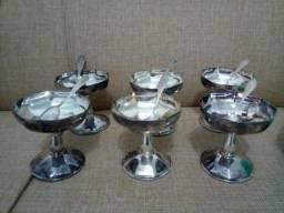 Jogos de prata para sobremesas (