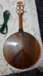 Banjo Rozini zerado com case e cabo p10