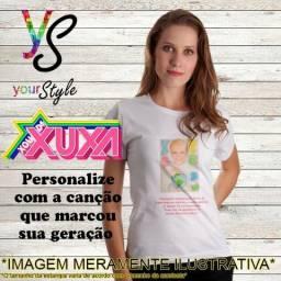 Camiseta branca adulto Personalizada Xuxa