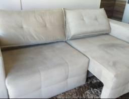 Sofá suede cinza 2,50 m lindo