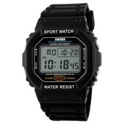 Relógio Skmei Masculino Preto, Fundo Cinza, Novo!! (Estilo G Shock DW 5200)