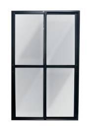 Porta alumínio preto
