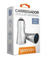 Carregador Veicular Universal USB ? USB-C