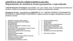 Manutenção de Equipamentos Médicos Hospitalares, Fisioterapia e Estética