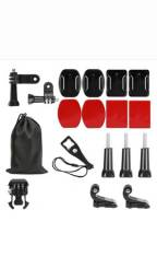 Kit Com Adesivos e Suportes Para GoPro e Câmeras Sport