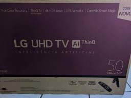 Smart TV 4k LG 50 polegadas + controle de voz