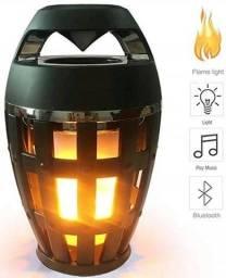 Caixa De Som Bluetooth Flame Atmosphere Speaker Led Lampião