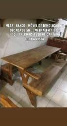 VENDO/TROCO Mesa/Poltrona , madeira demolição dec 50