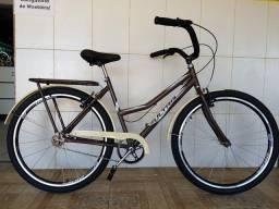 Bicicleta aro 26 aero nova ultra marrom