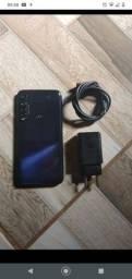Moto G8 plus celular sem detalhes zero com capa e película