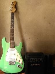 Guitarra Dolphin mais amplificador