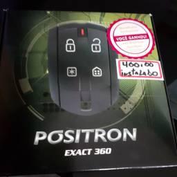 Alarme Positron EXACT 360 novo com garantia instalado em seu carro