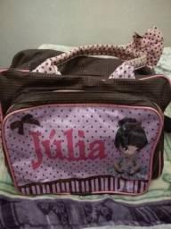 Bolsa de bebê grande nome Júlia