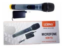 Microfone Lelong sem fio ( produto novo)