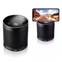 Caixa De Som Bluetooth Wireles Mp3 Usb Caixinha Com Rádio Encaixe para Smartphone