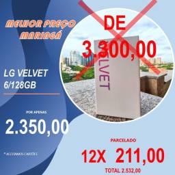 Smartphone Lg Velvet 128GB Aurora White. Lacrado!