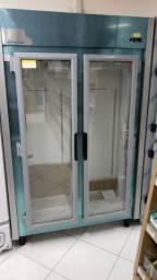 Auto serviço refrigerador 2 portas padaria mercearia (novo)