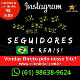 Seguidores Instagram (1OOO) - (Brasileiros, Ativos, Reais)