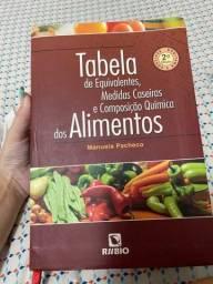 Tabela de equivalentes,  medidas caseiras e composição quimica dos alimentos