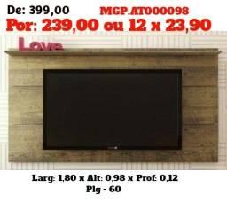 Liquida MS- Painel de televisão até 60 Plg- Painel de TV- Sala de Estar