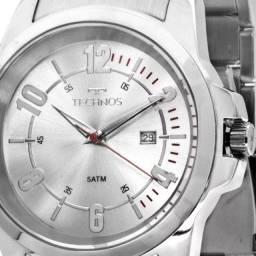 imperdível Relógio Technos Racer luxo prata Masculino 2115mmw/1k novo