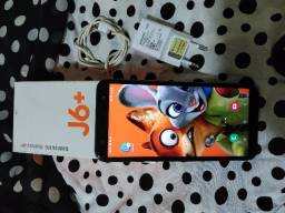 Samsung galaxy j6 plus 32 gb ,ram 4 gb tela 6 polegadas completo nf e garantia
