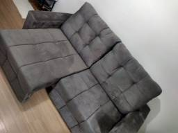 Sofá Retrátil cinza escuro