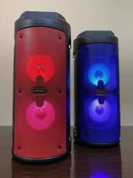Caixa de Som Torre Kimiso 6681 Com Bluetooth, Rádio FM, USB