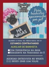 Vaga de Auxiliar de Banhista em PetShop