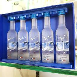 Kit Coleção Miniatura Vodka Grey Goose Francesa - 50ml - Original, Lacrada e Licenciada