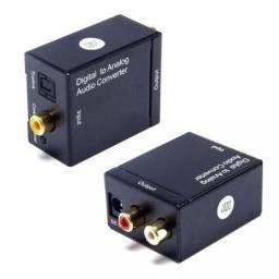 Conversor Áudio Digital Optico Fibra Coaxial P/rca Analógico 5.0