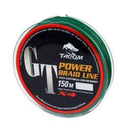 Linha Tacom Power Braid 0,50mm 79lbs 150m - Multifilamento