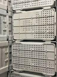 Caixa plástica no atacado cor branca para verdura