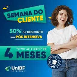 Título do anúncio: PROMOÇÃO DE PÓS GRADUAÇÃO EAD UNIBF. Contatos pelo *