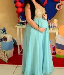 Título do anúncio: Vestido de festa azul serenite
