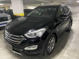 Hyundai Santa Fe 2016 top de linha blindada com teto translúcido