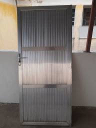 Portão alumínio 1,80x0,80