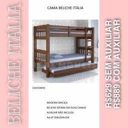 Cama beliche Itália (madeira maciça)