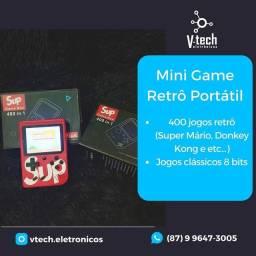 mini game retrô com 400 jogos