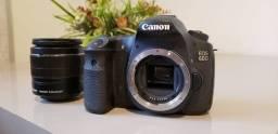 Câmera Canon 60D  + Lente 18x135 muito barato