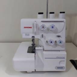 Máquina de Costura Overlock/Ultralock Doméstica, 2 Agulhas, 4 Fios, 8002D, 127V - Janome