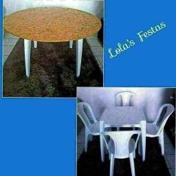 Locação de Mesas e Cadeiras a partir de 10,00 o conj.<br>